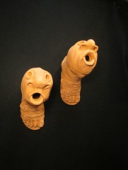 Thornton, footand mouth birdhouses, terra cotta (1)