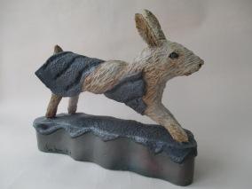Thread Rabbit,21 x 10 x 6 in. Stoneware