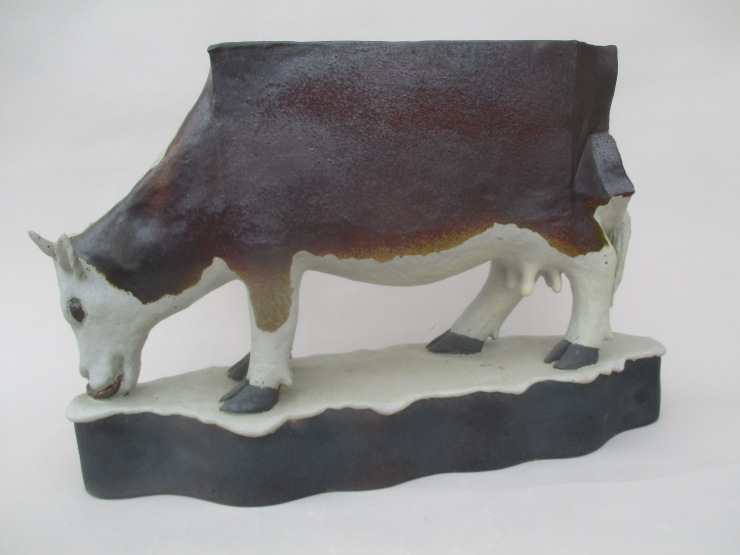 Hinshaw, Image 3, Milk Cow, 19 x 8 x 6 in., Stoneware
