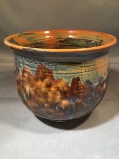 Hsu, Vase, 5_H_6_W_6_L, White Stoneware, gas fired