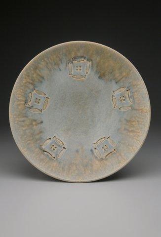 Large Low Bowl 4.5_H x 20_W x 20_L , Stoneware, Ash Glazed