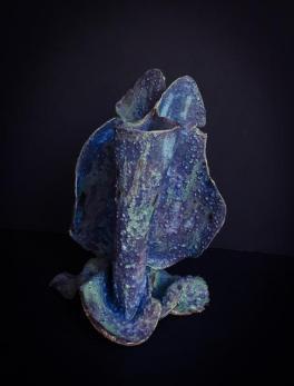 Vujea, vase, 7 x 5 x 5, cone 10 stoneware
