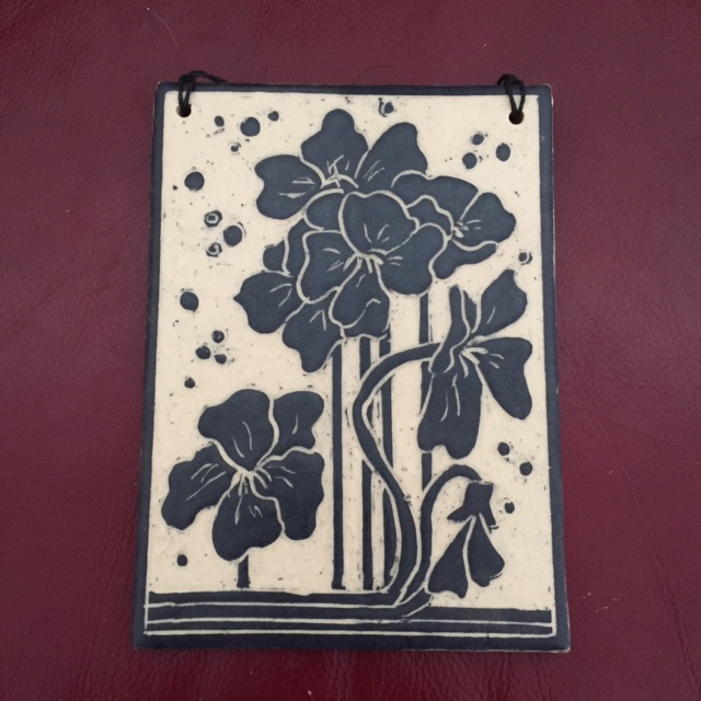 Frey, Mom's Book, 5x7 in. - clay - Sgraffito