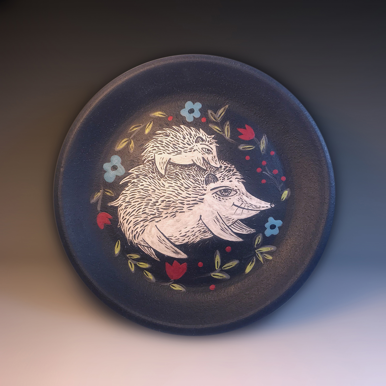 Rosseter-Hedgehogs-8.5_Wx1_H-BlackStoneware-Cone5