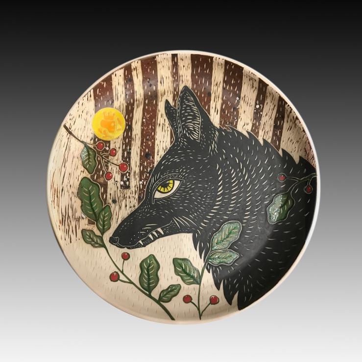 Rosseter-WolvesNotSheep-9.75_Wx1.25_H-Porcelain-Cone6