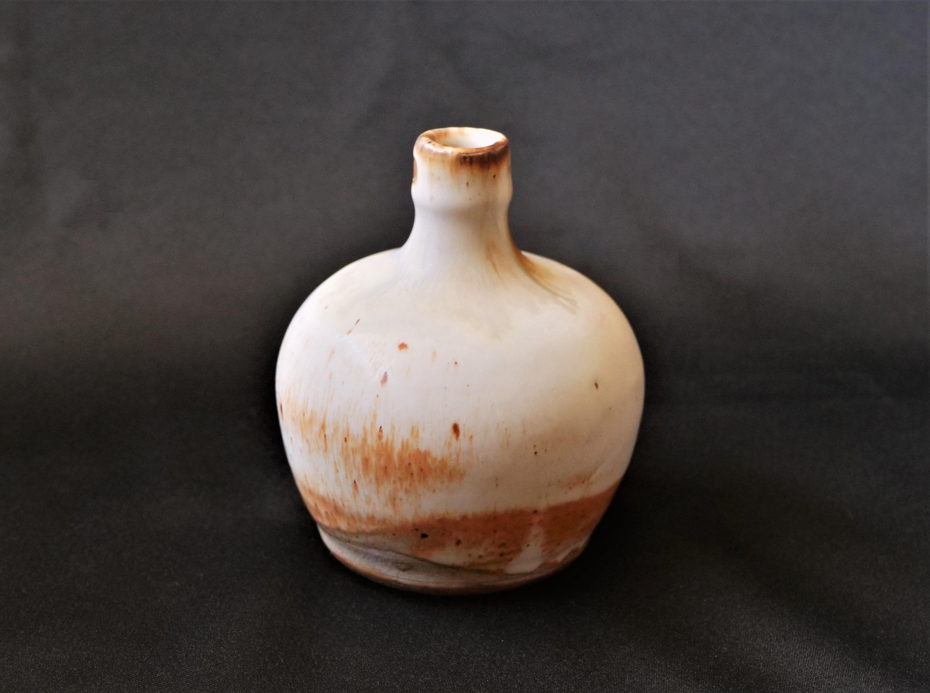 Stuart, Bottle, 5''H x 4''L x 4''W, Stoneware, Cone 10 Reduction