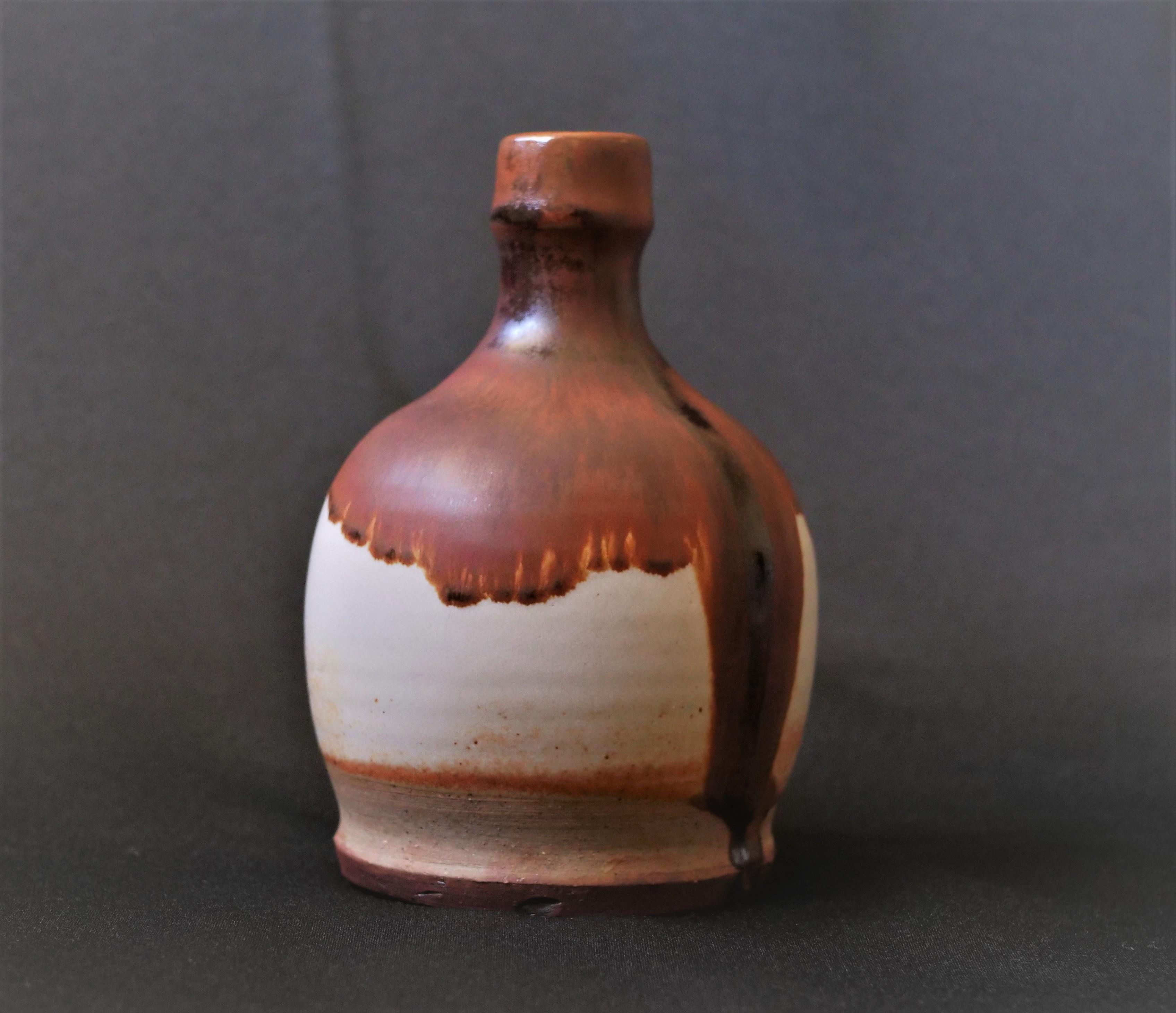 Stuart, Bottle, 6''H x 4''L x 4''W, Stoneware, Cone 10 Reduction