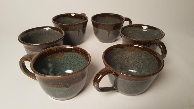 Stuart, Cups, 4''H x 5''L x 4''W, Stoneware, Cone 10 Reduction