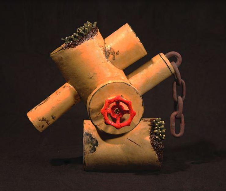 Stuart, Dead Machine A-1, 12''H x 7''W x 14''L, Stoneware, Cone 6 Oxidation