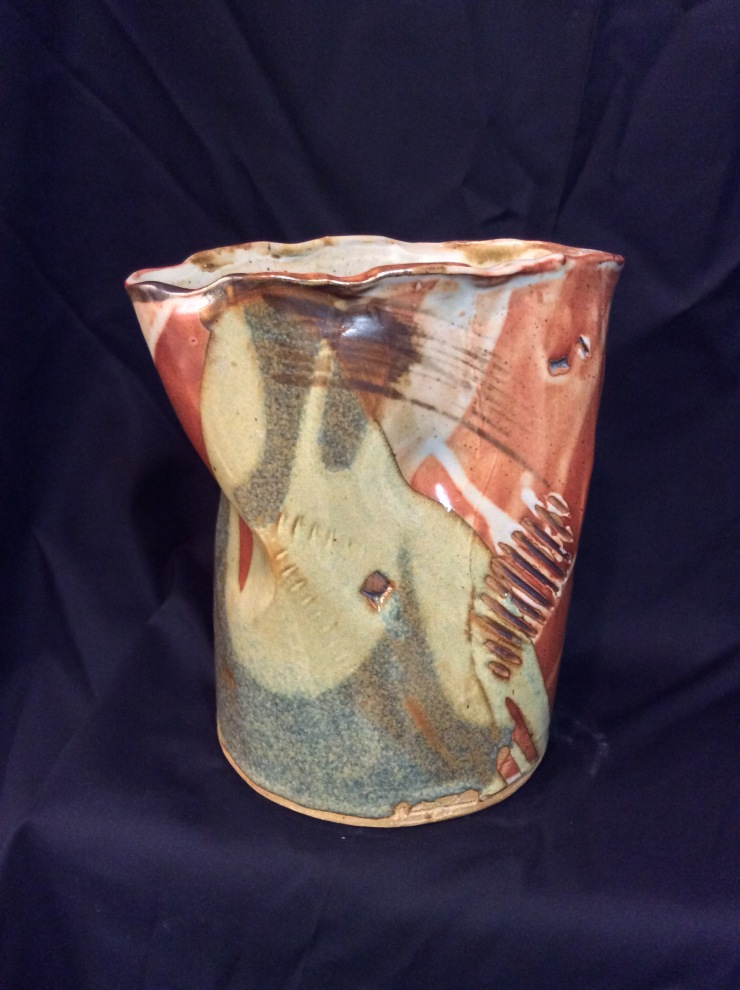 WYATT-Vessel-10x9x9in. Stoneware Cone 10 Reduction