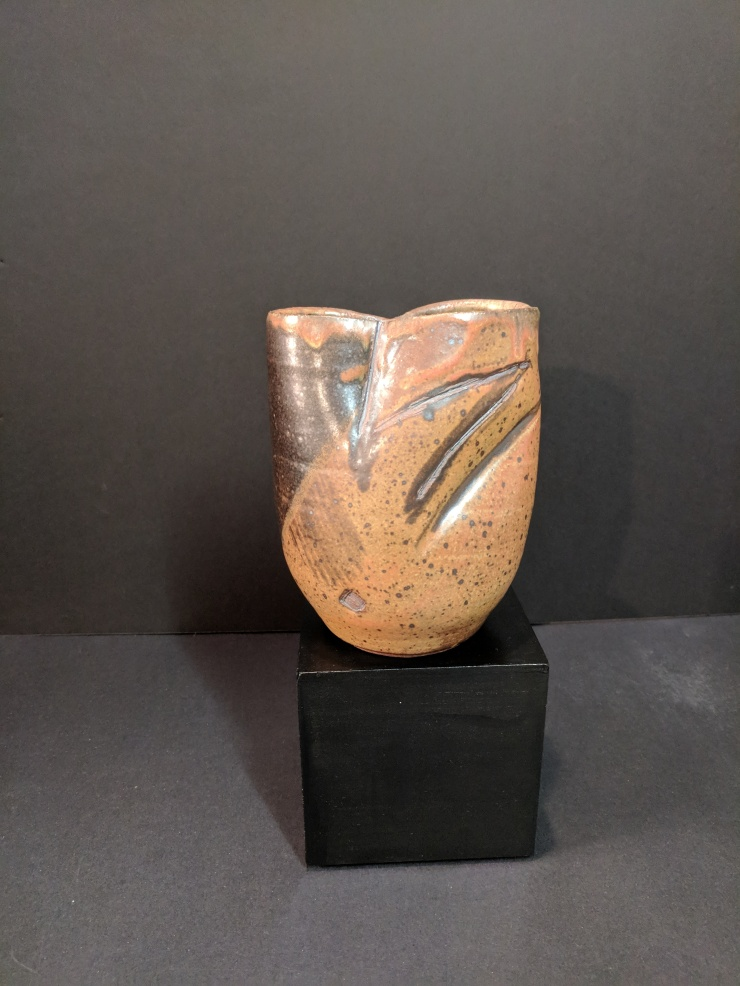 WYATT-Vessel-7x5x5in. Stoneware Cone 10 Reduction